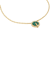 Police Incrible Stainless Steel Charm Necklace for Women, Gold
