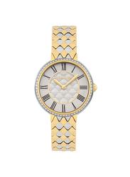 Cerruti 1881 Vallarsa Analog Metal Watch for Women, Water Resistant, Silver/Rose Gold-White, C CRWM23302
