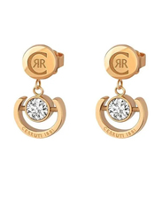Cerruti 1881 Rose Gold Drop & Dangle Earrings for Women with Diamond Stone, Rose Gold