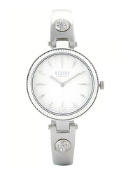 Versus Brigitte Watch for Women with Stainless Steel Band, Water Resistant, V WVSPEP0, Silver-White