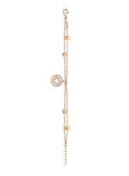 Cerruti 1881 Metal Chain Bracelet with Swarovski Stone for Women, Rose Gold