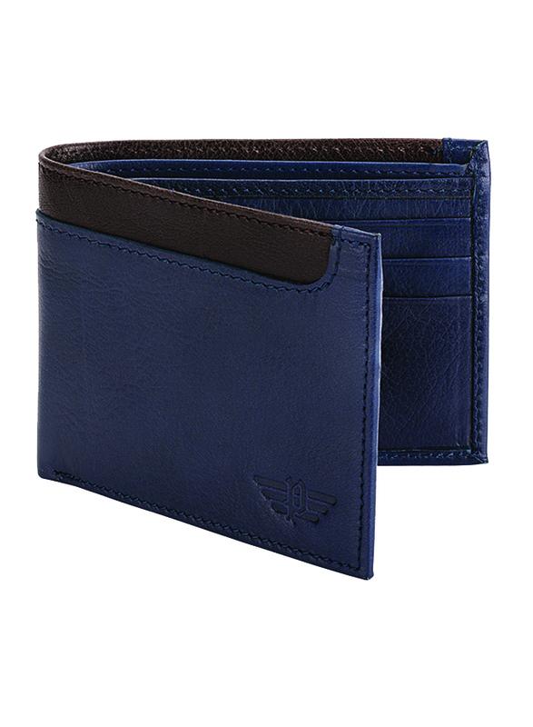 Police Element Leather Bi-Fold Wallet for Men, Blue
