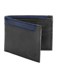 Police Element Leather Bi-Fold Wallet for Men, Black