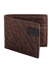 Police Chack Leather Bi-Fold Small Wallet for Men, PA40044WLBR-S, Brown