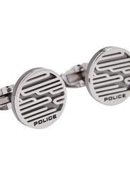 Police Sligo Mens Cufflinks, Stainless Steel, Silver