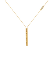 Police Senja Gold Plated Stainless Steel Chain Necklace for Women with Diamond Stone, Gold