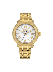 Cerruti 1881 Giulianova Analog Stainless Steel Watch For Women Water Resistant, Gold-Silver, C CRWM25604