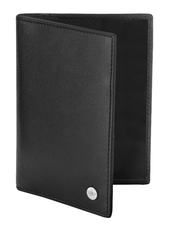 Police Pass Leather Bi-Fold Wallet for Men, PA40114WL, Black