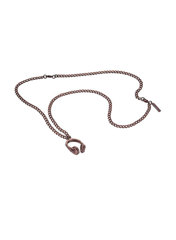 Police Beat Stainless Steel Pendant Necklace for Men, Brown