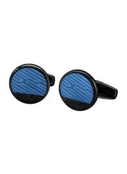 Police Ss20 Alesund Mens Cufflinks, Metal, Blue