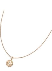 Escada Silver Pendant Necklace for Women, Rose Gold