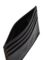Police Pyramid Leather Smart Wallet for Men, Black