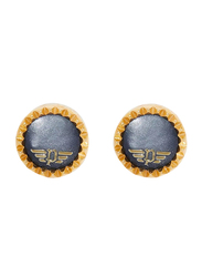 Police Vernazza Gold Plated Stainless Steel Stud Earrings for Women, Gold