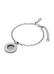 Police Mimosa Metal Wristband Bracelet for Women, Silver