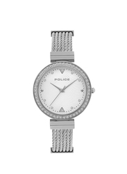 Police Yakima Analog Metal Watch for Women, Water Resistant, Silver, P 15575BS-04M