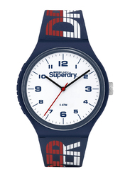 Superdry Urban Xl Racing PC21 Analog Watch for Men with Silicone Band, Water Resistant, T SDWSYG269, White