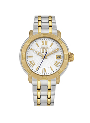 Cerruti 1881 Giulianova Analog Stainless Steel Watch For Women Water Resistant, Silver/Gold-Silver, C CRWM25605