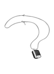 Police Upscale Stainless Steel Pendant Necklace for Men, Black
