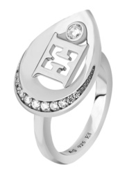 Escada Promise Ring for Women, Rhodium, EU 52
