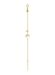 Cerruti 1881 Gold Plated Chain Bracelet for Women, With Ceramic Stone and Swarovski Crystals, Gold