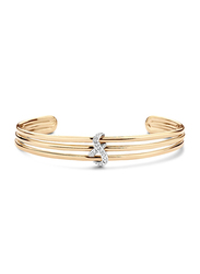 Cerruti 1881 Gold Plated Stainless Steel Bangle Bracelet for Women with Infinity Motif and Diamond Stone, Gold