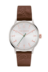 Ted Baker Cosmopolitan Men's Analog Watch with White Dial and Brown Leather Strap - T TBKPCSF9063O