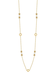 Cerruti 1881 Stainless Steel Charm Necklace with Swarovski Stone for Women, Gold