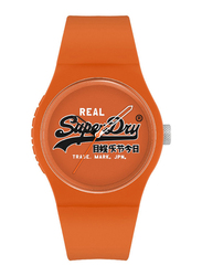 Superdry Urban Original PC21 Analog Watch for Men with Silicone Band, Water Resistant, T SDWSYG280, Orange