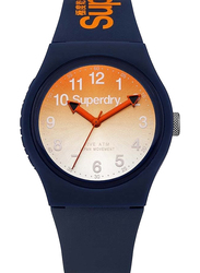 Superdry Urban Analog Watch Unisex with Silicone Band, Water Resistant, T SDWSYG198UO, Blue-Orange