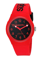 Superdry Urban Analog Rubber Watch for Unisex, Water Resistant, Pink-Black, T SDWSYG164RB