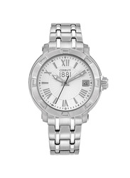 Cerruti 1881 Giulianova Analog Stainless Steel Watch For Women Water Resistant, Silver, C CRWM25603