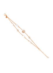 Cerruti 1881 Metal Chain Bracelet for Women, Rose Gold
