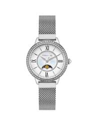 Cerruti 1881 Rosara Analog Stainless Steel Watch for Women, Water Resistant, Silver, C CRWM22501