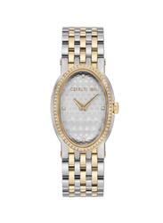 Cerruti 1881 Norcia ii Analog Metal Watch for Women, Water Resistant, Silver/Gold-Silver, C CRWM23202
