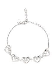 Cerruti 1881 Metal Chain Bracelet for Women, Silver