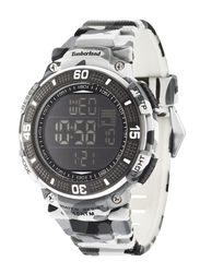 Timberland Cadion Quartz Digital Watch for Men with Rubber Band, Water Resistant, T TBL13554JPGY-02A, Grey Camouflage-Black
