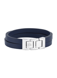 Police Ancoats Stainless Steel Multi-Strand Bracelet for Men, Blue