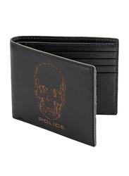 Police Idol Leather Bi-Fold Wallet for Men, Black