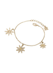 Escada Metal Charm Bracelet with Swarovski Stone for Women, Gold