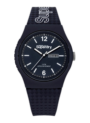 Superdry Urban Analog Rubber Watch for Men, Water Resistant, Dark Blue-Blue, T SDWSYG179UU