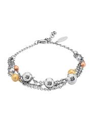 Police Stainless Steel Multi-Strand Bracelet for Women, Silver