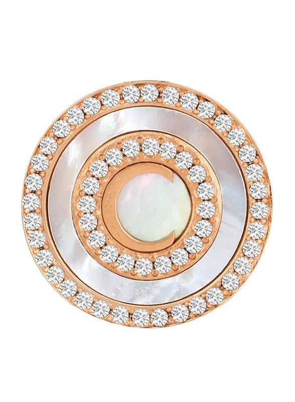 Cerruti 1881 Rose Gold Stud Earrings for Women with Swarovski Stone, Rose Gold