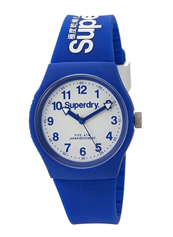 Superdry Urban Analog Rubber Watch for Unisex, Water Resistant, Blue-White, T SDWSYG164U