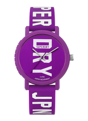 Superdry Campus Block Rubber Watch for Women, Water Resistant, Purple, T SDWSYL196VW
