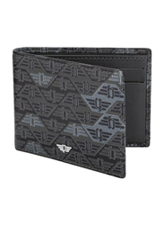 Police Glide Leather Bi-Fold Wallet for Men, PA40121WL, Matte Navy