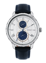 Cerruti 1881 Bargino Analog Watch for Men with Leather Band, Water Resistant with Chronograph, C CRWA266, Blue-Silver