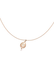 Escada Stainless Steel Pendant Necklace with Pearl - Imitation Stone for Women, Rose Gold