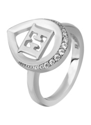Escada Promise Ring for Women, Rhodium, EU 56