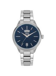 Cerruti 1881 Castelnuovo Metal Watch for Men, Water Resistant, Silver-Blue, C CRWA23907