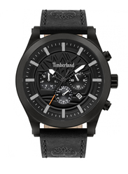 Timberland Hardwick Analog Leather Watch For Men, Water Resistant with Chronograph, Black, T TBL15661JSB-02